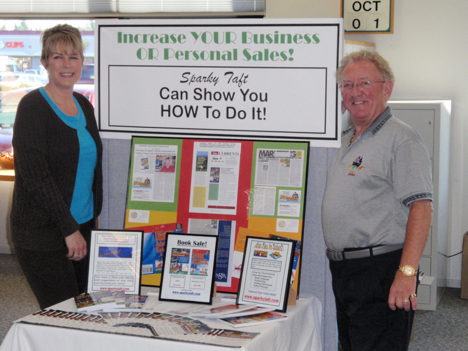 Increase YOUR Business or Personal Sales! Sparky Taft Can Show You HOW to Do It!
