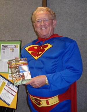 """Super"" Sparky showing off book Dynamic Sales Results"